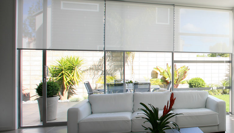 Motorized shades Rollease