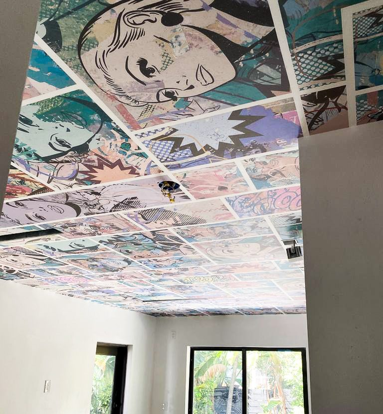 wall covering ceiling