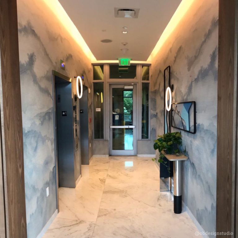 wall covering hallway